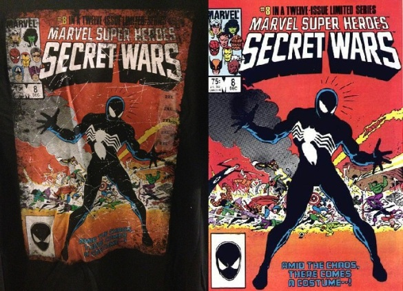 Left: The Shirt Part II. Right: The Comic Part II: The Sequel.